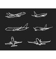 airplane vector image vector image
