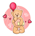 teddy bear with message vector image