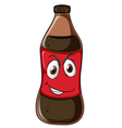 A bottle with face vector image