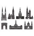 eastern europe european buildings on white vector image