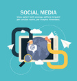 Flat Business Social Media Human hands with vector image