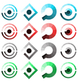 set of abstract icons vector image
