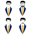 Set of the icons men vector image