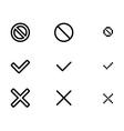 web validation icons vector image