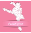 Paper background with ballet dancer vector image vector image