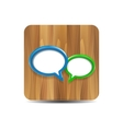 speech bubbles on wood vector image