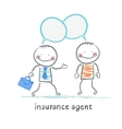 insurance agent insurance agent tells about vector image vector image