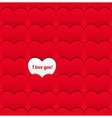 Seamless love pattern of hearts vector image vector image