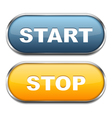 Start and Stop Buttons vector image vector image