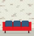 Modern Flat Design Sofa Interior vector image