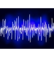 electronic sound waves vector image vector image