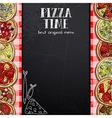 menu design in the pizzeria vector image