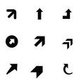 arrows 9 icons set vector image