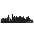 Boston massachusetts skyline detailed silhouette vector image