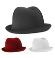 Bowler hats set template vector image