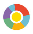 bright round diagram with colorful sections vector image