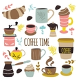 Coffee Time Hand Drawn Design vector image