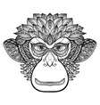 Monkey Doodle Face vector image