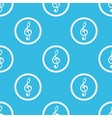 Music sign blue pattern vector image