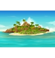 Tropical island background vector image