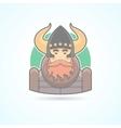 Viking sea king scandinavian man icon vector image