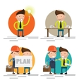 set characters on building worker vector image vector image