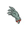 Zombie Monster Hand Drawing vector image vector image