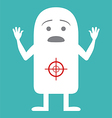 Animated personality victim vector image
