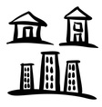 Set of House sketches vector image