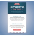 Newsletter design template vector image vector image