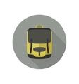 Icon of school bag vector image