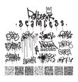 Big set of seamless patterns graffiti style vector image