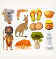 Australian set vector image