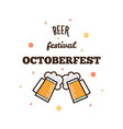 beer festival octoberfest vector image