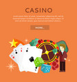 casino gambling website template vector image
