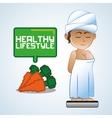 Healthy food design Healthy lifestyle icon Flat vector image