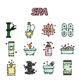 SPA flat icon set vector image