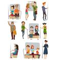 Subway People Set vector image