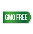 GMO free sign ribbon vector image