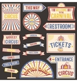 Circus vintage labels banner vector image