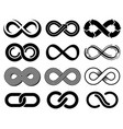 infinity symbols mobius loop icons vector image