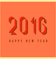 2016 happy new year mockup graphic retro fire vector image