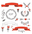 Elegant set of grahic elements vector image vector image