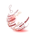 christmas ball made of merry christmas phrase vector image vector image