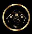 Gold houses icon vector image