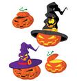 Set of Halloween pumpkin vector image