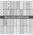 Big collection of seamless monochrome retro vector image