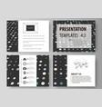 business templates for presentation slides easy vector image