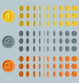 cartoon rotation animation vector image