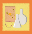 flat shading style icon chemistry lesson vector image